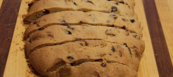 Cranberry Orange Pecan Biscotti