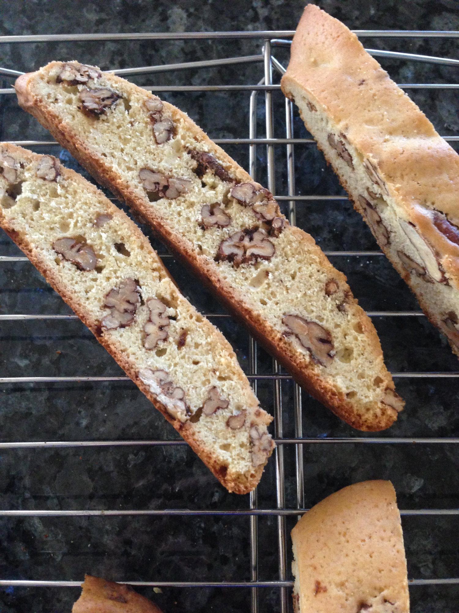 Candied Pecan Biscotti – Baking Genes